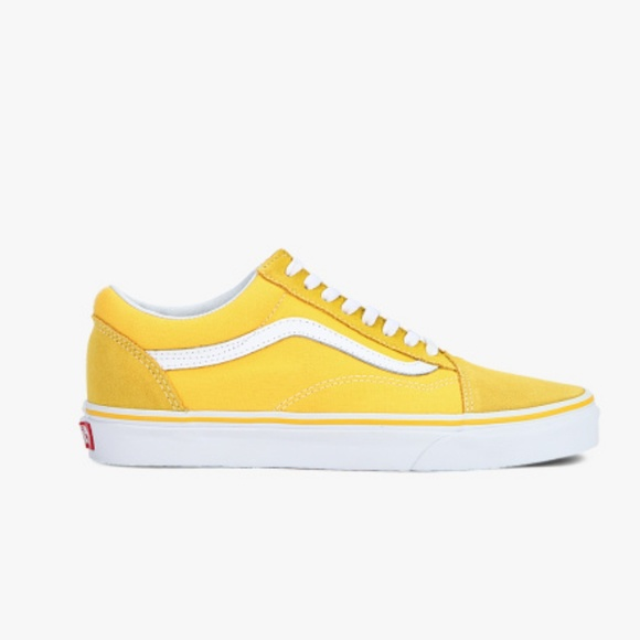 31be0802772 Vans Old Skool Spectra Yellow   White Skate Shoes.  M 5b71e4a79fe486843dde5e44
